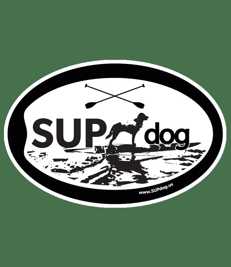 SUPdog oval magnet, SUP dog