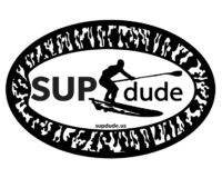 SUPdude oval magnet, SUP, dude